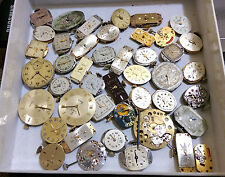 ROLEX OMEGA LONGINES TISSOT AND MORE DIAL & MOVEMENTS - LOT OF 65