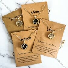 Astrology Zodiac Necklace Card Jewellery Star Sign Constellation Horoscope Gift