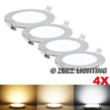 4X Warm White 3W Round LED Recessed Ceiling Panel Down Lights Bulb Lamp Fixture