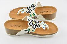 Sandalias Color blanco para mujer de cuña chanclas Talla 38 Verano