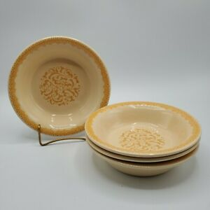 "Set of 4 Franciscan GINGERSNAP 7"" Cereal Soup Bowls NICE**"