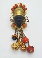 Exquisite Signed Askew London Blackamoor Figural Brooch/pin, with crystals