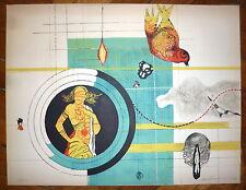 Olle Svanlund Lithographie originale Signée 1976 Art Abstrait Stockholm Suède