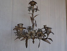 18th Century Copper & Bronze Antique Church Candelabra Candlestick Chandelier