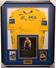 Cadel Evans Signed Yellow Official Tour De France Jersey Framed L/E  141 Units