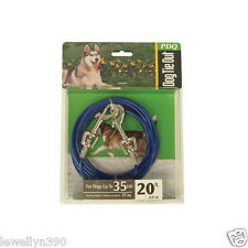 PDQ  20' Tie Out Swivel Leash Hook Dogs up to 35lbs 083929232066