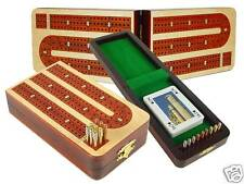 Folding Continuous Cribbage Board 3 Tracks White Maple - House of Cribbage