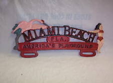 MIAMI BEACH LICENSE PLATE TOPPER - RAT ROD, HOT ROD