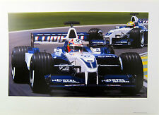 Juan Pablo Montoya Autographed BMW-Williams Limited edition Danny Day Lithograph