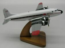 Collectables Dc-4 Qantas Air Cargo Wood Desktop Airplane Model Models