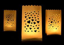 3 x Lichtertüten Leuchttüten Lichttüte Lichtüten Lichtertüte mit Herz Liebe