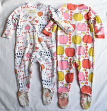 100% NEXT PLAYSUITS 9-12 MONTHS APPLE SMILE HAPPY TIME