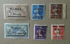 L18.Lote de 6 sellos  Francia colonia sobrecarga Memel