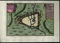 Oudenaarde Belgium c.1680 charming old vintage antique city plan map