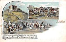 Germany postcard Weinsberg mit der Weibertreu multiview town & castle pre-1907