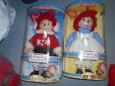 NIB Raggedy Ann & Andy Dolls Porcelain Keepsake Brass Key Simon & Schuster BIG