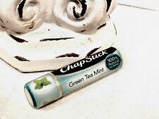New! Chapstick Limited Edition ** Green Tea Mint ** 100% Natural Lip Balm Butter