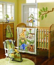 7 Piece ZOO Animals Style Boy Baby Nursery Crib Bedding Set Quilt Bumper Sheet 5