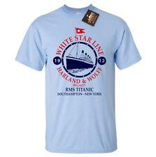 White Star Line Titanic Inspired T-shirt - Classic Film Boat Ship Sailing Tee
