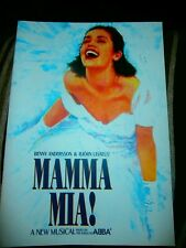 MAMA MIA ABBA 2001 AUSTRALIA TOUR PROGRAM RARE MINT SOUVENIR RARE