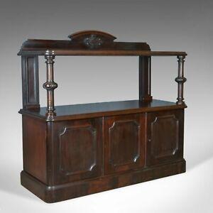 Antique Buffet Sideboard, English, Victorian, Mahogany, Server, Circa 1880
