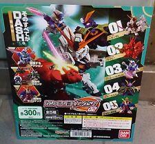 Bandai SD Gundam DASH 02 v Sazabi Crossbone X3 X2 MUSHA Z Gashapon - Set of 5
