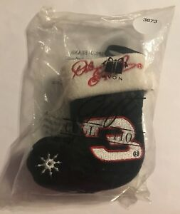 *** RARE*** #3 DALE EARNHARDT - SPEED BEAN STOCKING TREE ORNAMENT   # 3673