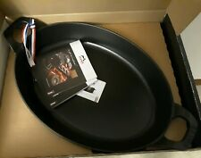 New Black Staub Oval Stackable Baking Dish Cast Iron 10.5-inch x 8 7/8-inch