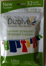 WASHING POWDER SHEETS 32 WASHES PER PACK FRAGRANCE FREE ECO-STRIPS
