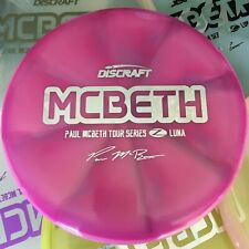 DISCRAFT Paul McBeth Tour Series Swirly Z Luna Disc Golf Putter Pick Your Disc!