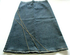 RIPE Womens Sz S Stretch Denim Elastic Waist Knee-Length Maternity Skirt VGC