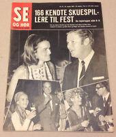 FRITS HELMUTH JEANNE DARVILLE ETC. BIG PARTY IN COPENHAGEN  Danish Magazine 1969
