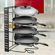 Cabinet Kitchen Pantry Organizer Rack Pan Pot Holder Lid Storage Shelf Cookware