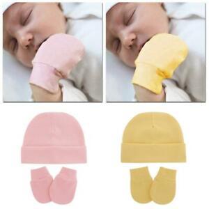 Baby Hat Mittens Set Kids Knitted Beanie Cap Winter Warm Pompom Hats Gloves AU