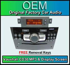 Vauxhall Corsa CD30 MP3 Player, Vauxhall Radio CD & Pantalla de visualización,