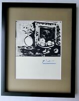 PABLO PICASSO 1955 SIGNED SUPERB PRINT MATTED 11 X 14 + LIST $695
