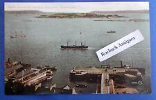 Vintage Postcard Spike Island & Harbour Entrance Queenstown County Cork