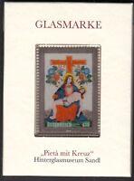 Erster Glasmarken Block: Pieta mit Kreuz Hinterglasmuseum Sandl postfrisch