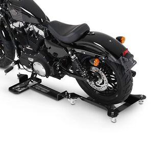 Chariot de déplacement Moto ConStands M2 noir Bequille d'atelier Roulant
