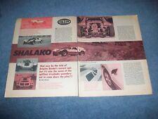 "Dick Dean's Custom Built VW Buggy Vintage Article ""Shalako"""