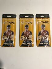 "KT Tape Pro Extreme 10"" Precut Kinesiology Therapeutic 3 Pack. Lot Of 3"