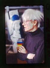 ANDY WARHOL - RARE ORIGINAL CANDID NEGATIVE authentic photograph c1986 SLIDE