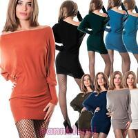 Miniabito maglione pullover donna maxipull cachemire pipistrello nuovo CC-1123