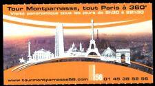 Eintrittskarte, Paris, Tour Montparnasse, tout Paris à 360°, 2009
