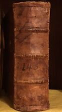 1562 Saint St. Thomas Aquinas Theology Opiscolorum Book Leather Raised Spine