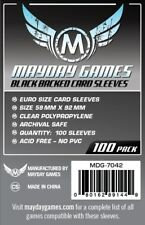 Mayday European Card Board Game Sleeves Black Back 59mm x 92mm - 100ct MDG-7042