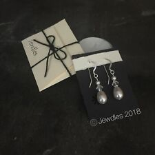 Handmade Swarovski Pearl & Crystal Sterling Silver Drop Earring