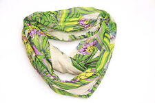 Green Inspired Ladies Tribal Floral Colorful Theme Snood Neck Scarf Unique (S3)
