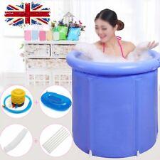 Adult's Folding Bathtub Portable Plastic Tub Foldable Water Place Room Spa