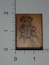 Cute Teddy Bear Wood Mounted Rubber Stamp Cards Scrapbooking S14